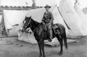 Calamity Jane à cheval