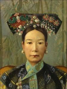 Représentation de l'impératrice Cixi en tenue d'apparat