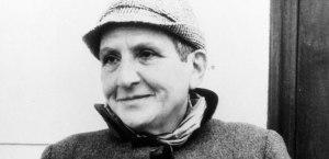 Photographie en noir et blanc de Gertrude Stein