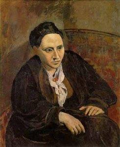 Tableau représentant Gertrude Stein, par Picasso