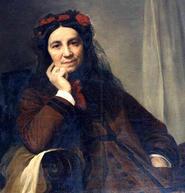 Dessin représentant Marie Pape-Carpantier assise sur un fauteuil