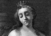 Dessin représentant Artémise Ire portant une couronne