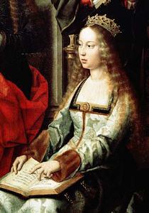 Tableau représentant Isabelle Iere de Castille ou Isabelle la Catholique