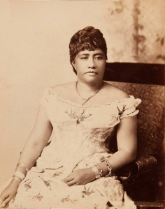 Portrait de Lili'uokalani, dernière reine d'Hawaï