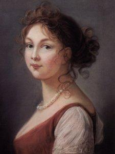 Portrait peint de Louise de Prusse par Elisabeth Vigée-Lebrun