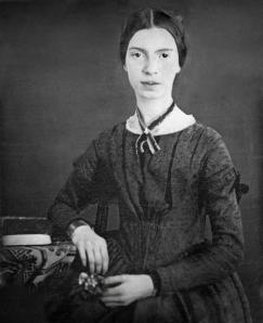 Daguerréotype (photographie en noir et blanc) de la poétesse Emily Dickinson