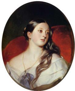 Tableau représentant la Reine Victoria d'Angleterre dans sa jeunesse