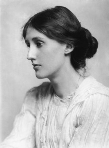 Photographie en noir et blanc de Virginia Woolf