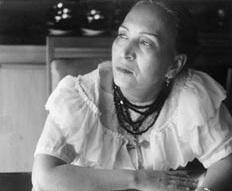 Photographie en noir et blanc de Maria Izquierdo