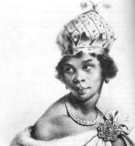 Dessin représentant la Reine Nzinga Mbende (Angola)