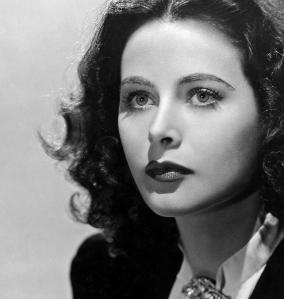 Photographie en noir et blanc de Hedy Lamarr
