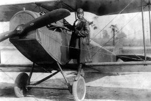 Bessie Coleman et son avion