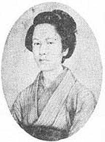 Portrait de la onna-bugeisha Nakano Takeko
