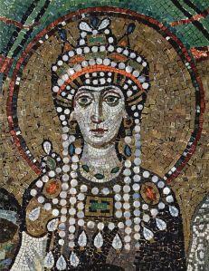 Portrait de l'impératrice Théodora en mosaïque
