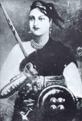 Portrait de Lakshmi Bai