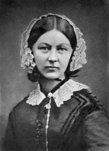 Photographie de l'infirmière Florence Nightingale