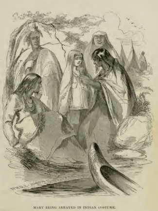 Mary Jemison en compagnie de Sénécas