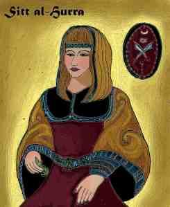 Portrait de Sayyida al-Hurra bint Ali ibn Rashid