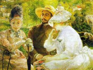 Sur la terrasse à Sèvres, 1880, Marie Bracquemond