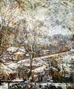 Paysage d'hiver, Marie Bracquemond