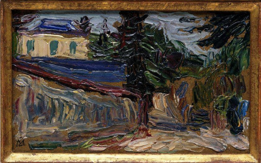 Paysage près de Paris, par Gabriele Münter