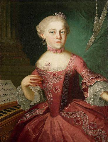 Maria Anna ou Nannerl Mozart, enfant