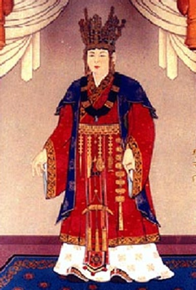 La reine Seondeok de Silla, royaume de Corée