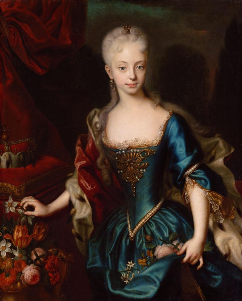Marie-Therese d'Autriche dans sa jeunesse
