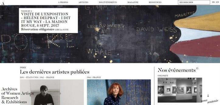 Capture d'écran du site AWARE