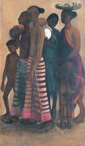 Amrita Sher Gil - South Indian Villagers Going to Market