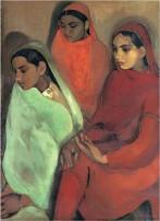Amrita Sher Gil - Group of Three Girls