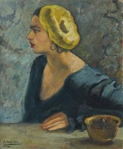 Amrita Sher Gil - Self-portrait, untitled