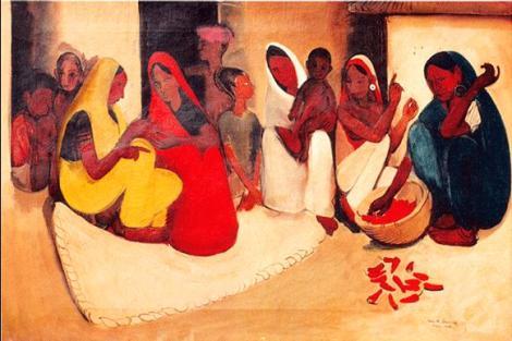 Amrita Shel Gil - Village scene 1938