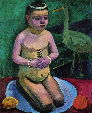 Enfant nu avec cigogne - Paula Modersohn-Becker