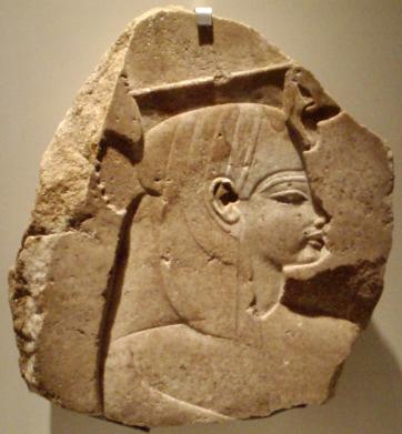 Ce relief représente la reine Tiyi de profil, tournée vers la droite. Elle porte les attributs royaux.
