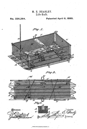 Maria_Beasley_Life_Raft_patent_1880