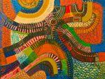 Cette image est le tableau África imens. (1980) de Bertina Lopes.