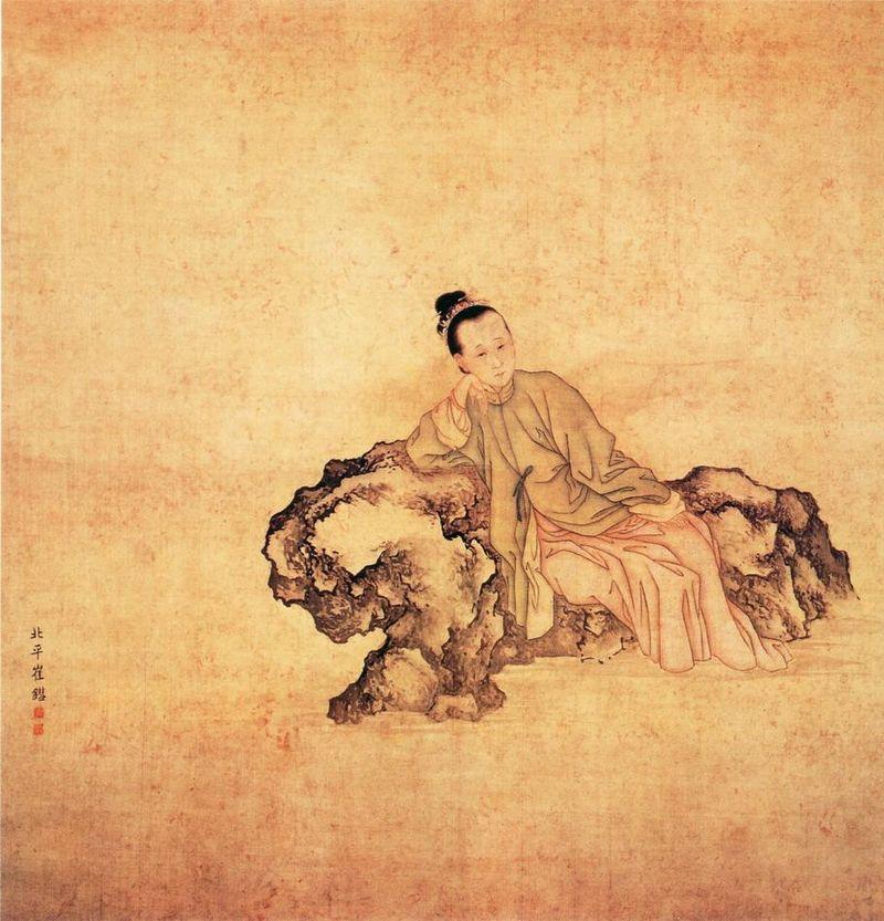 Représentation de la poétesse Li Qingzhao