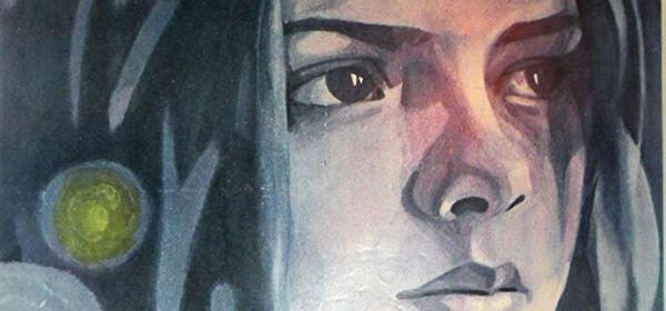 Cette image est un extrait de l'affiche du film Le Pivert n'a pas mal à la tête. En haut de l'affiche, le visage d'une jeune fille aux cheveux longs.