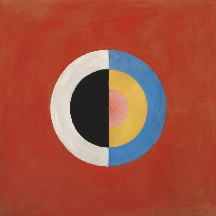 Cette image est un tableau abstrait d'Hilma af Klint