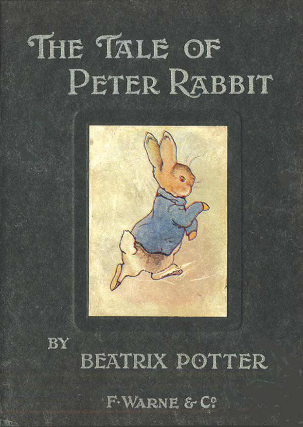 Cette image montre la couverture du livre de Beatrix Potter The Tale of Peter Rabbit